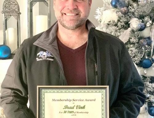 Congratulations to Brad Vink